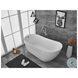 BT10870GW Chantal Glossy White Oval Bathtub