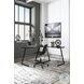Mallistron Black and Silver Home Office L Desk