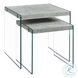 Gray Cement Nesting Table Set of 2