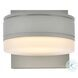 LDOD4013S Raine Silver Round Outdoor Wall Light
