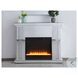 """Modern Crystal White 47.5"""" Mirrored Mantle With Fireplace"""