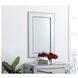 MR32436S Iris Antique Silver Rectangle Vanity Mirror