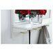 MR503421WH Elle White Rectangle Vanity Mirror