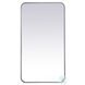 MR802036S Evermore Silver Rectangle Vanity Mirror