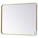 MR802736BR Evermore Brass Rectangle Vanity Mirror