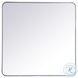 MR803636S Evermore Silver Rectangle Vanity Mirror