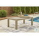 Silo Point Brown Outdoor Rectangular Cocktail Table