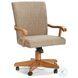 Classic Oak Chestnut Tilt Swivel Game Chair
