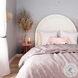 Gumdrop Cream Velvet Full Panel Bed