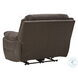 Dunleith Chocolate Zero Wall Recliner With Power Headrest