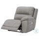 Dunleith Gray Power Reclining Modular Sofa