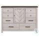 S466-015 Brown 8 Drawer Bureau Dresser