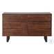 Glenwood Walnut And Antique Zinc Dresser