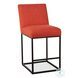 Rebel Antique Coral Linen Counter Height Stool Set Of 2